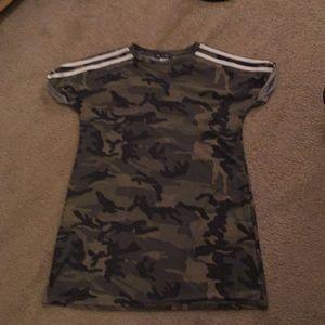 Army print dress